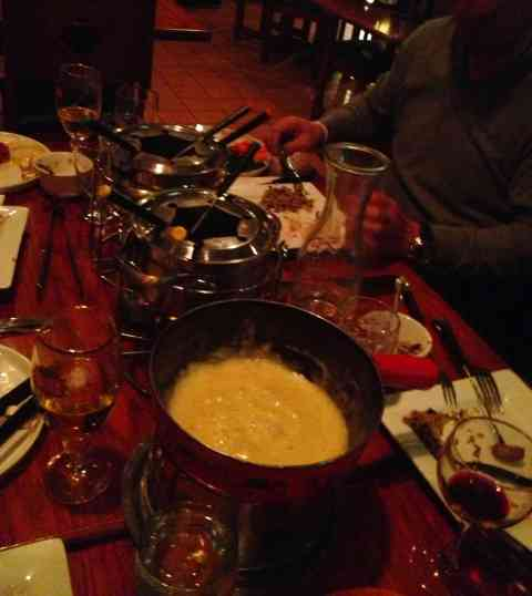 I love cheese fondue!