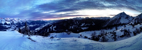 Beautiful morning training in Reiteralm!
