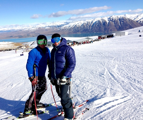 Awesome giant slalom training in New Zealand!  Big thank you to these two studs for making in possible for me to be here!  Go Team Groundswell!!!  Also a shout out to Merritt, we wish you were here and thank you to Florian for letting us train with your crew!