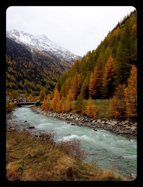The Solden river is full of glacier run off and is VERY cold!