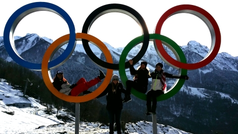 Enjoying the Sochi Adventure with teammates!