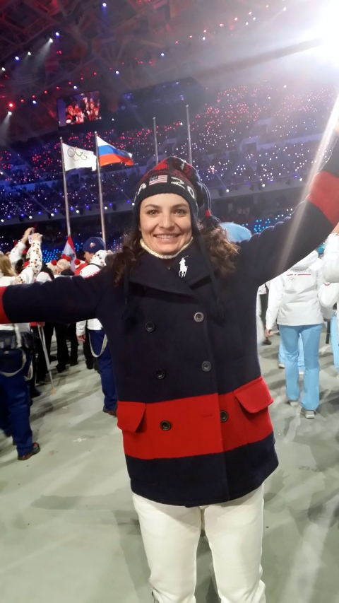 Representing USA at Closing Ceremonies!