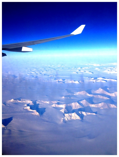 Flying over Greenland in-route to North American Cup Finals.