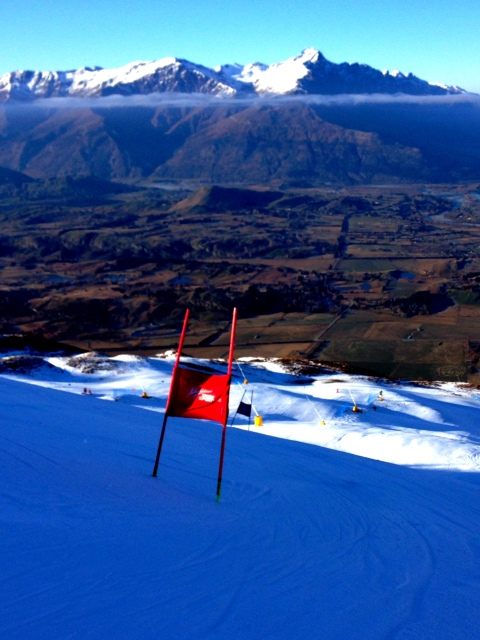 August ended with ten days of bluebird training in New Zealand.  This is the view from Coronet Peak ski area.