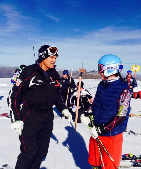 Getting some words of wisdom from the famous Ante Kostelic of Croatia  Photo Credit: Cody Marshall