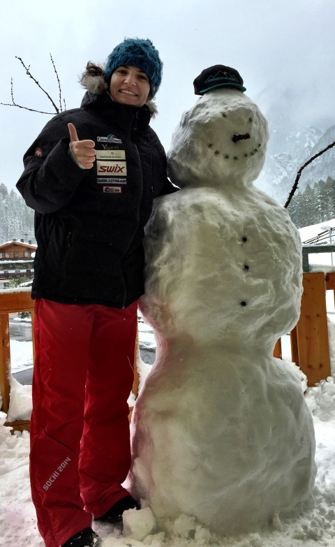 1.5meters of new snow in Sölden two days before the race!