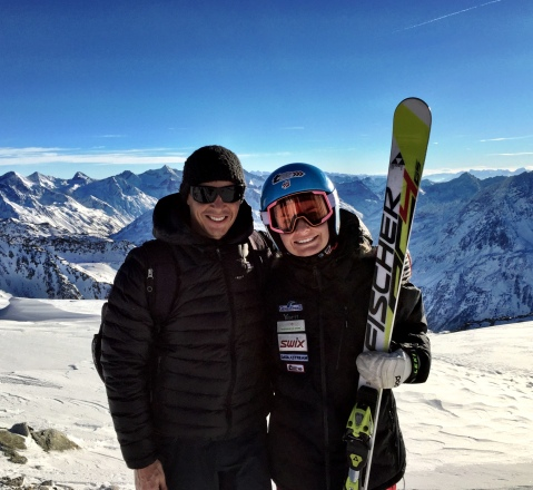 Me and Cody getting ready on race day in Sölden!!!