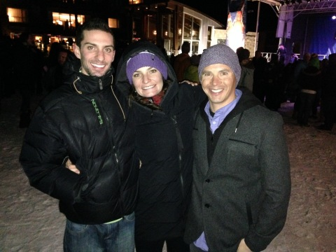 Two of my favorite boys came to cheer for me at the World Cup in Aspen!