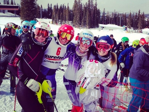 The T2 crew at slalom North American Cups, Thank you T2 Foundation!  Photo Credit: Marina Knight