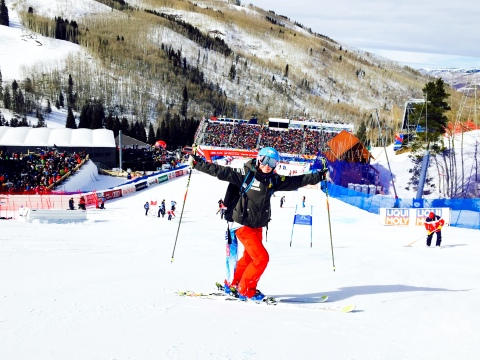 Second run inspection at the World Championship giant slalom in Beaver Creek!
