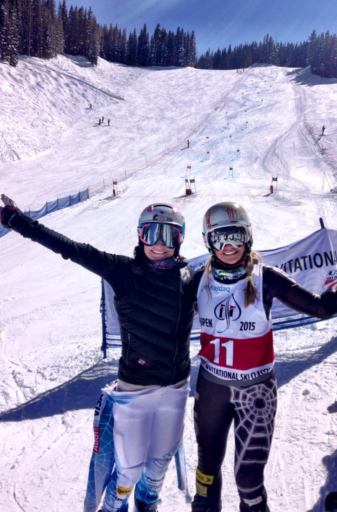 And hanging with old friends!  Jess Kelley and I at the Director's Cup in Aspen