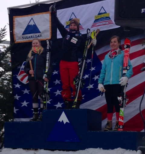 I ended U.S. National Championships as the National Combine Champion, 3rd place in Giant Slalom and 3rd place in Slalom in Sugarloaf