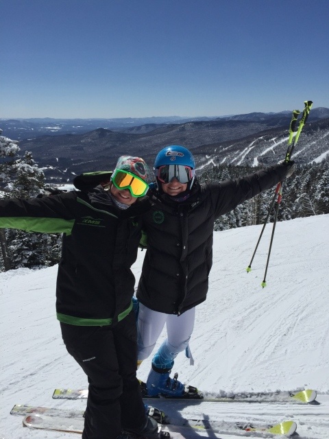 Chelsea Marshall and I ripping some turns in Stowe, VT!