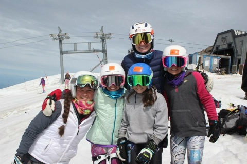 Girls Group in Mt. Hood #LigetyWiebrectSkiCamp2015