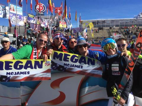 I found my European fan club after the race in Soelden. I can't believe I have one , so cool!
