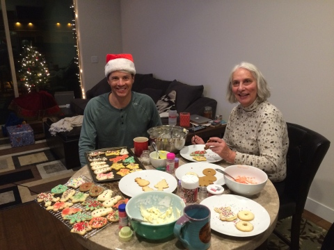 Before I hit the road, I had a Christmas cookie decorating party with my mom and Cody Marshall!