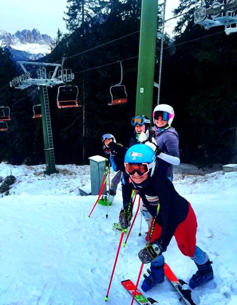 Giant Slalom Training with the West Team Girlies!