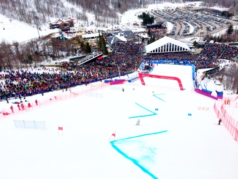 Feeling the love with 16,000+ American ski racing fans and future ski racers watching the racing in Killington!