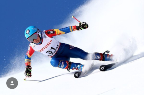 on my way to 21st place in the World Championship giant slalom